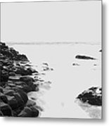 Long Exposure At The Giants Causeway Metal Print by Christopher Kulfan