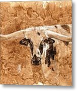 Long Horns Metal Print by Debra Jones