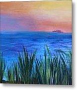 Long Island Sound Sunset Metal Print