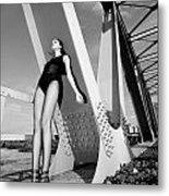 Long Legs On The Bridge  Metal Print