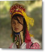 Long Neck Beauty Karen Tribe Metal Print