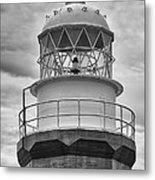 Long Point Lighthouse - Black And White Metal Print
