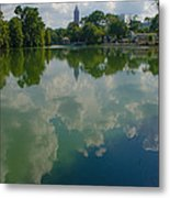 Long Reflection Metal Print