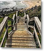 Long Stairway To Beach Metal Print