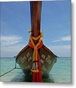 Long Tail Boat Thailand Metal Print