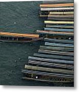 Long-tail Boats Anchored On The Chao Metal Print