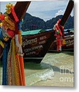 Long Tail Boats Metal Print