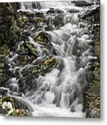 Longfellow Grist Mill Waterfall Metal Print