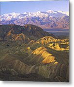Looking At Panamint Range Metal Print by Tim Fitzharris