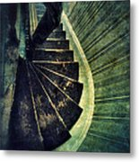 Looking Down An Old Staircase Metal Print