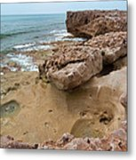 Looking Down From Above Blowing Rocks Preserve Metal Print