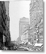 Looking Down State Street - Chicago - C  1897 Metal Print