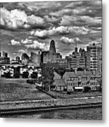 Looking Downtown From The Erie Basin Marina Metal Print