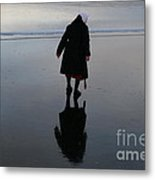 Looking Glass Reflection Metal Print