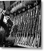 Looking Over Guns In Guard Room Metal Print