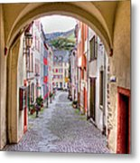Looking Through Graach Gate - Colour Metal Print