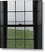 Looking Through The Window Of Historic Metal Print