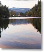 Looking Towards Leaburg Dam Metal Print
