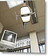 Looking Up At A Dentistry Light Metal Print by Andersen Ross