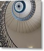 Looking Up At A Spiral Staircase Metal Print