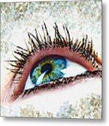 Looking Up Eye Art Metal Print