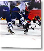 Loose Puck Metal Print by Karol Livote