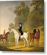 Lord Bulkeley And His Harriers Metal Print