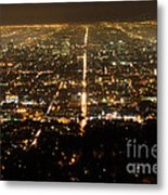 Los Angeles At Night 2 Metal Print