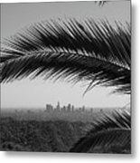 Los Angeles Skyline From Hollywood Hills Metal Print