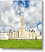 Los Angeles Temple Front Metal Print