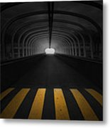 Lost In The Shadows I Walk Alone Metal Print
