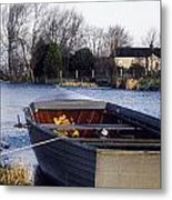 Lough Neagh, Co Antrim, Ireland Boat In Metal Print