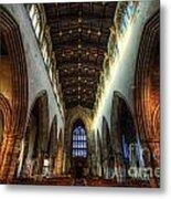 Loughborough Church Ceiling And Nave Metal Print