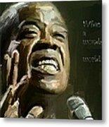 Louis Armstrong Wonderful World Metal Print by Yury Malkov