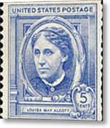 Louisa May Alcott (1832-1888) Metal Print