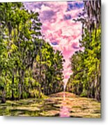 Louisiana Bayou Sunrise Metal Print