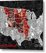Louisiana Purchase Coin Map . V1 Metal Print