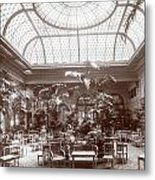 Lounge At The Plaza Hotel Metal Print