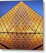 Louvre Pyramid Metal Print