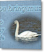 Love - I Love You Greeting Card - Mute Swan Metal Print