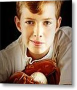 Love Baseball Metal Print by Lj Lambert