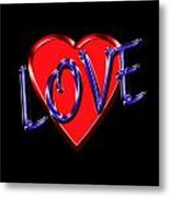 Love In Blue And Red Metal Print