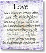 Love Poem In Purple  Metal Print