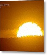Love Is The Sunshine Metal Print