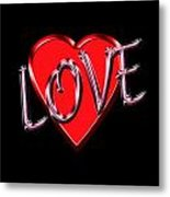 Love Pink And Red  Metal Print