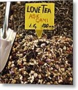 Love Tea Metal Print by Leslie Leda