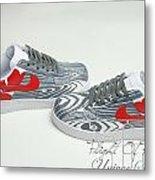 Love Woods Custom Air Force Ones Metal Print