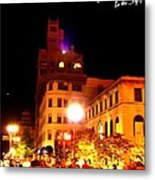 Lovely Asheville Night Downtown Metal Print