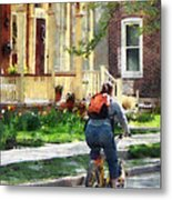 Lovely Spring Day For A Ride Metal Print