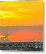 Lovely Sunset Over The Sea Metal Print
